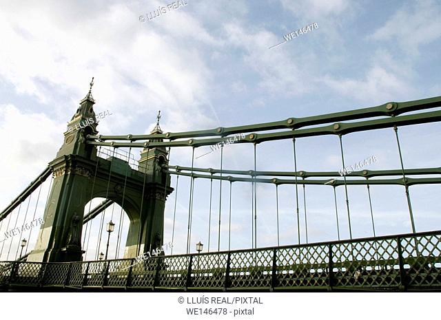 Hammersmith Bridge, Bridge, River Thames, West London