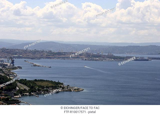 Triest, View of seascape
