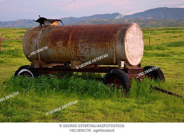 Water wagon at Traver Ranch, Carrizo Plain National Monument, California