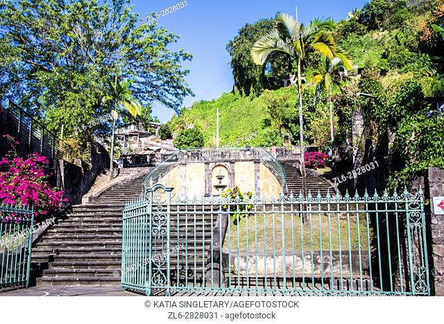 Beautiful surrounding in the town of Saint Pierre in Northern martinique right by the ocean