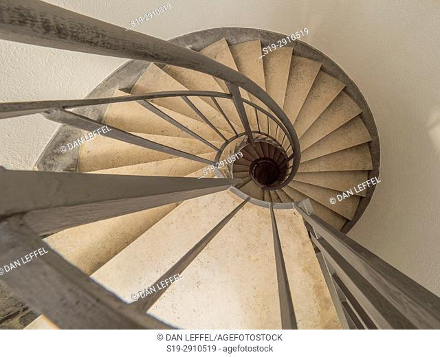 Spiral staircase, World War I Memorial, Oslavia, Italy