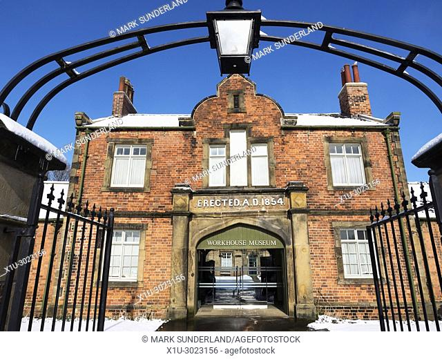 The Workhouse Museum in Winter at Ripon North Yorkshire England