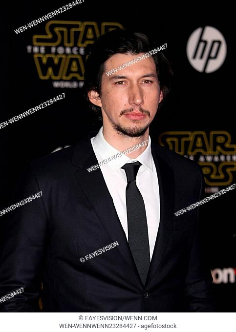 "Premiere Of Walt Disney Pictures And Lucasfilm's """"Star Wars: The Force Awakens"""" Featuring: Adam Driver Where: Hollywood, California"