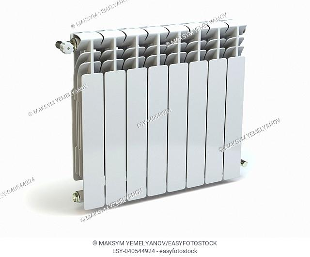 Heating radiators isolated on white background. 3d