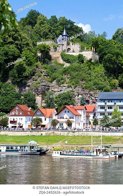 Ferryboat in Rathen, Saxony, Germany