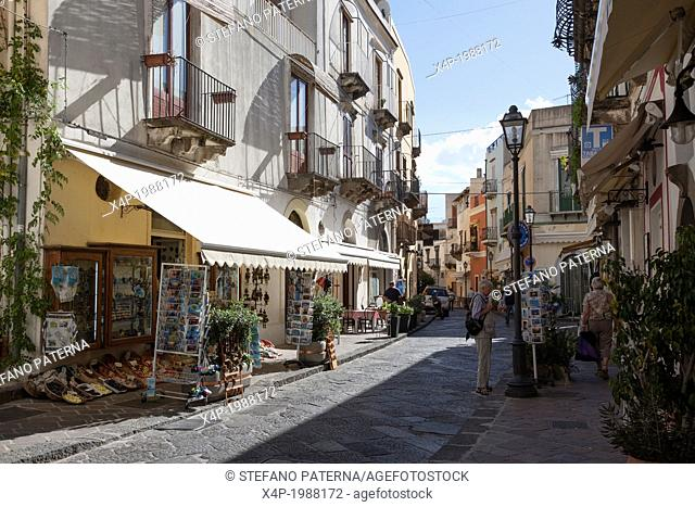 Streets and Alleys of Lipari, Aeolian Islands, Italy