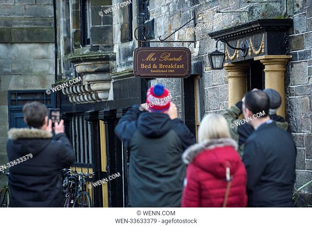 """Fife village Falkland is turned back in time for hit tv series """"""""Outlander"""""""" which the cast and crew were spotted filming in today"""
