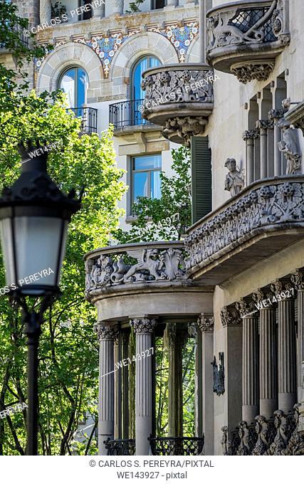 Lleo Morera house in Paseo de Gracia avenua, Barcelona, Catalonia, Spain