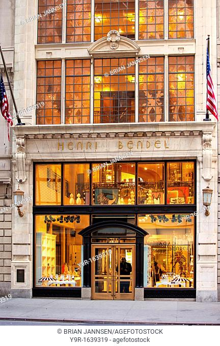 Henri Bendel Store on 5th Avenue in Manhattan, New York City USA