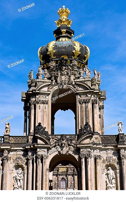 Detail of the Zwinger in Dresden