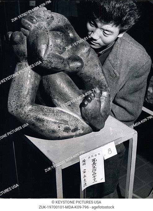 Jan. 1, 1970 - '1956' - an entry by the sculptor Y.Yasunaga, which is made up of a study of -ntertwined hands and feet. The Artistic Japanese : Record entries...