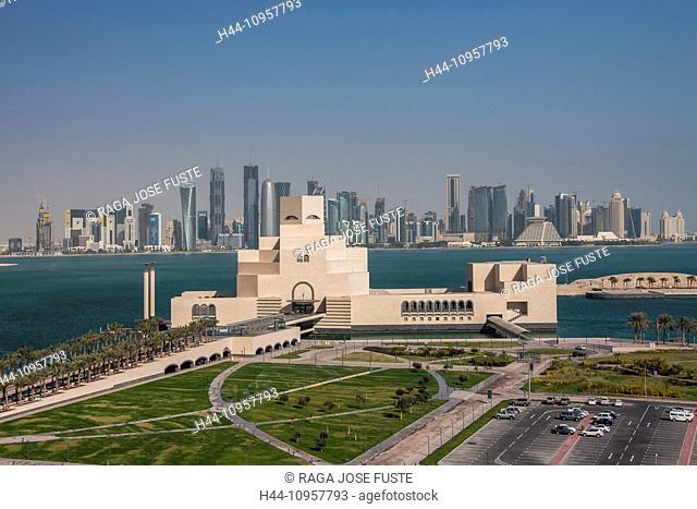 Doha, Qatar, Middle East, architecture, art, bay, city, corniche, Islamic, museum, panorama, skyline, touristic, travel, Islamic Art
