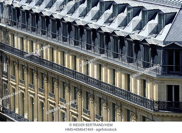 Facades of haussmann buildings Stock Photos and Images | age