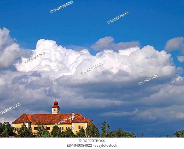 Weinburg Castle on a sunny day