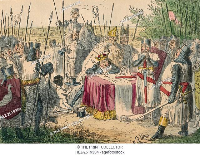 King John Signing Magna Charta, 1850. Artist: John Leech