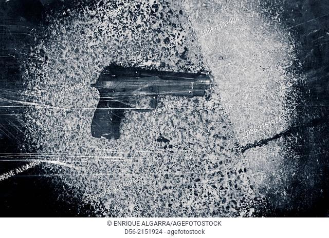 gun on the floor