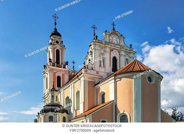 The St. Catherines Church (Sv. Kotrynos baznycia) is a Baroque church in the old town of Vilnius. In the present form, the church was built in 1737