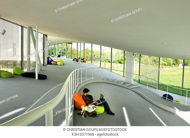 Rolex Learning Center, international cultural hub and library for the Ecole Polytechnique Federale de Lausanne EPFL, Designed by the architects SANAA