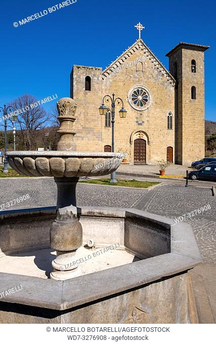 San Salvatore church in Bolsena, near Bolsena lake, Lazio, Italy