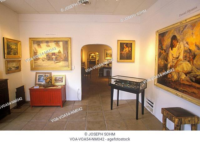 Interior of Art Gallery in Santa Fe, NM
