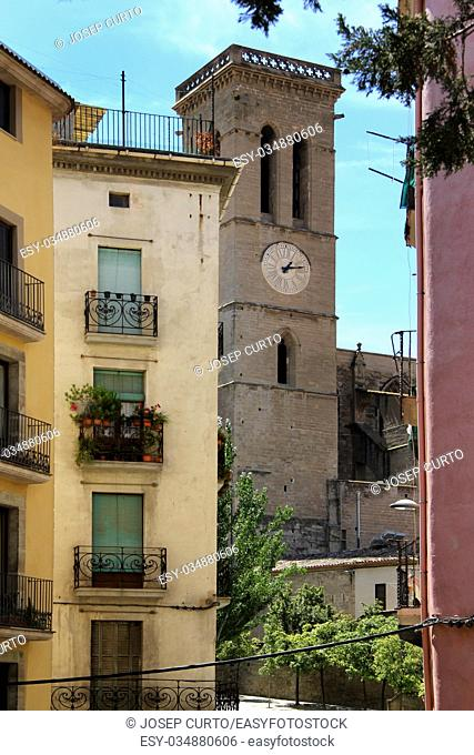 Bell tower La Seu, Manresa, Barcelona province, Catalonia, Spain