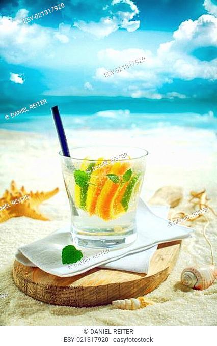 Delicious gin or vodka citrus cocktail