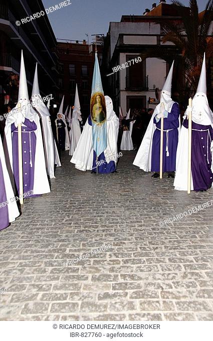 Semana Santa procession in the Holy Week before Easter, Huelva, Andalusia, Spain, Europe