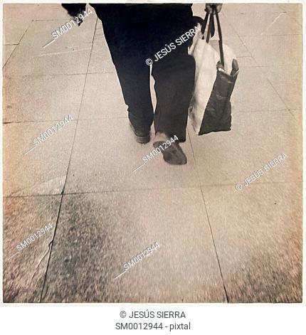 Man walking, Madrid