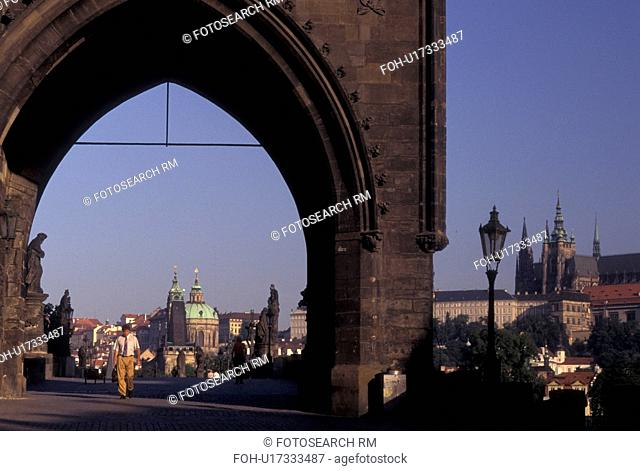 Charles Bridge, Prague, Czech Republic, Praha, Central Bohemia, Charles Bridge Gate, Old Town Bridge Tower