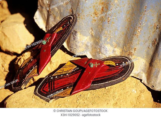 craft Tuareg sandals,Aïr,Niger,Western Africa