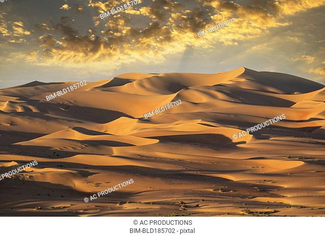 Sand dunes in remote desert