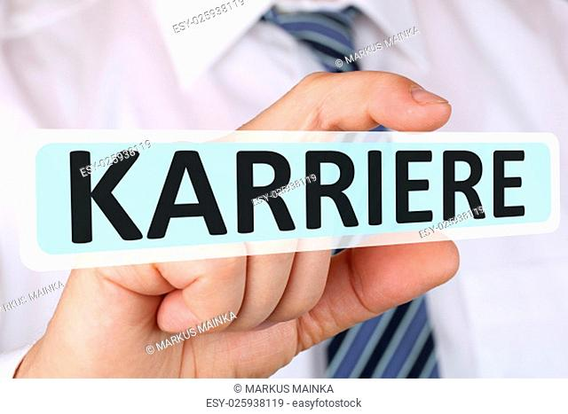 business man concept with career successful career success