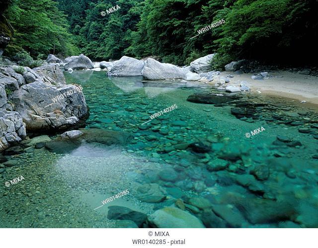 Adera Gorge, Ookuwa, Nagano, Japan