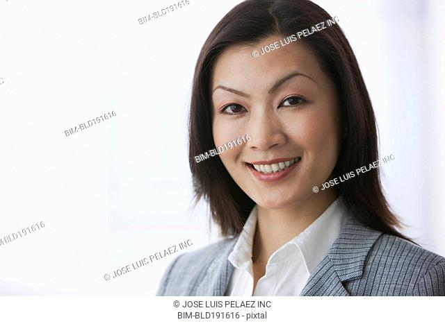 Chinese businesswoman smiling