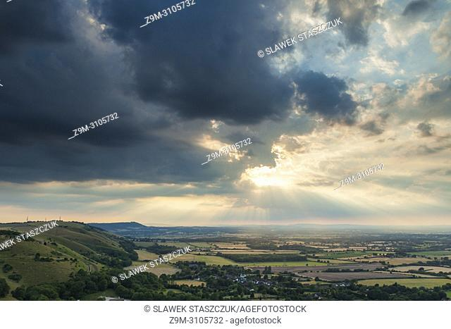 Summer evening at Devil's Dyke in South Downs National Park, West Sussex, England