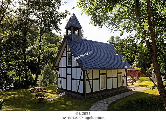 timber-framed chapel in Meschede, Germany, North Rhine-Westphalia, Sauerland, Meschede