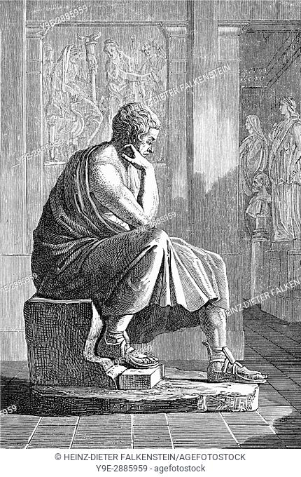 Aristotle, 384-322 BC, an ancient Greek philosopher and scientist