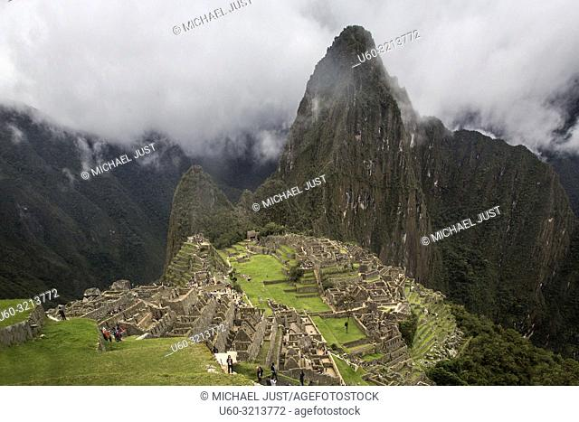 The Inca lost ruins at Machu Picchu, Peru