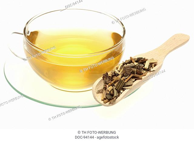 herb tea made of dried herb of the medicinal plant Lindley eupatorium , Pei Lan , Eupatorium fortunei