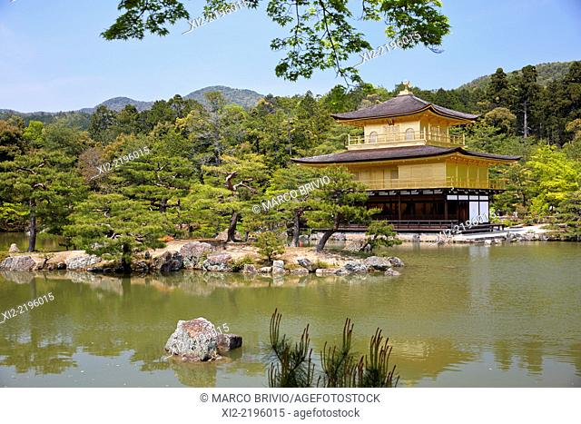 The Temple of the Golden Pavilion in Kyoto, Japan