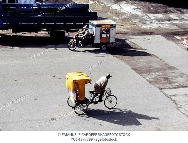 Rickshaw, Golmud, China