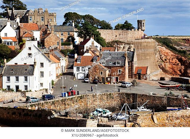 Crail Harbour at Low Tide Fife Scotland