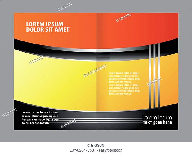 Catalog or brochure template design