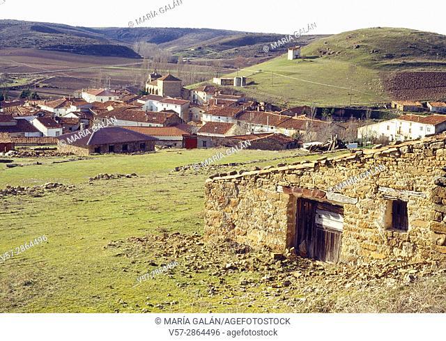 Overview. Mazarete, Guadalajara province, Castilla La Mancha, Spain