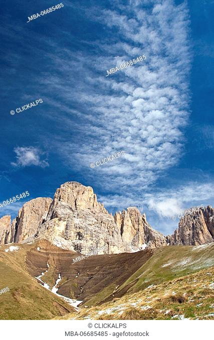 The Langkofel Group is a massif in the western Dolomites. It separates Gröden (to the north) and the Fassa valley (to the south)