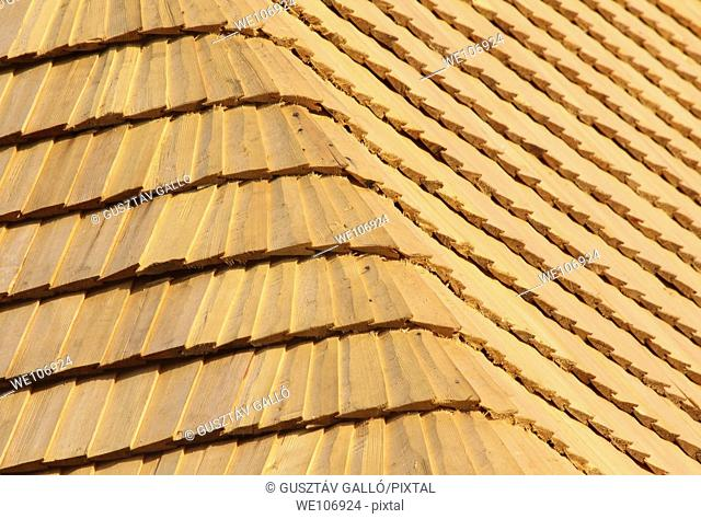 abstract background from the wood shingle roof