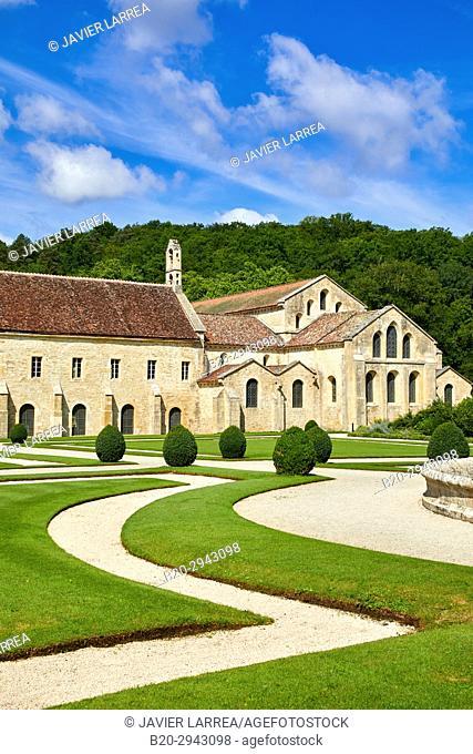Abbaye Royale de Notre Dame de Fontenay, Fontenay Cistercian Abbey, Montbard, Côte d'Or, Burgundy Region, Bourgogne, France, Europe