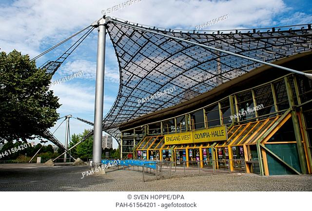 A view of the Olympiahalle (Olympic Hall) in Munich, Germany, 12 September 2015. Authorities plan to turn the hall into a refugee shelter