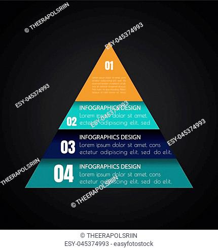 Business steb options banner in triangle form. Can be used for workflow layout, diagram, number options, step up options, web template, infographics