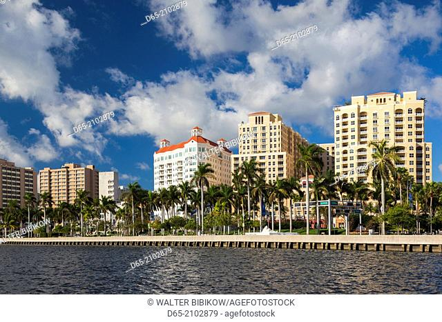 USA, Florida, West Palm Beach, city view, morning